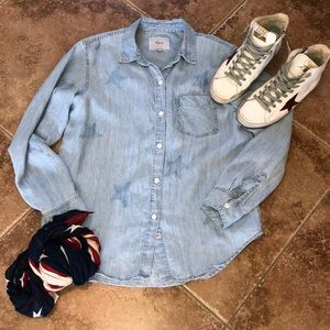 Rails Vintage Chambray Denim Shirt with Stars